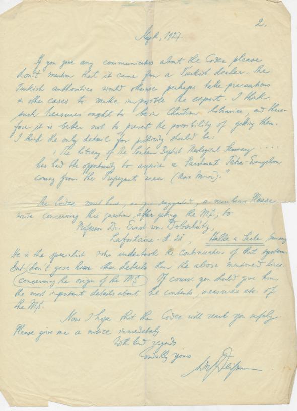 Deissmann to Robertson_30 May 1927_page 2